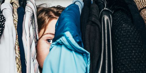 Blue, Textile, Jacket, Electric blue, Leather, Clothes hanger, Zipper, Leather jacket, Hood,