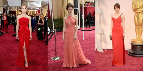 Oscar Red Carpet Trend: Striking Red Dresses