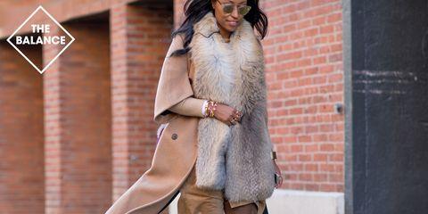 Clothing, Textile, Outerwear, Street fashion, Fashion, Blazer, Fashion model, Fur, Beige, Brick,