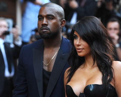 Kim Kardashian Takes a 'Wolfie' in Kanye's Blue Contacts