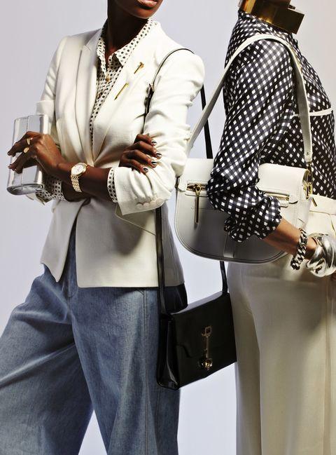 Sleeve, Outerwear, Collar, Style, Bag, Blazer, Fashion, Waist, Luggage and bags, Belt,