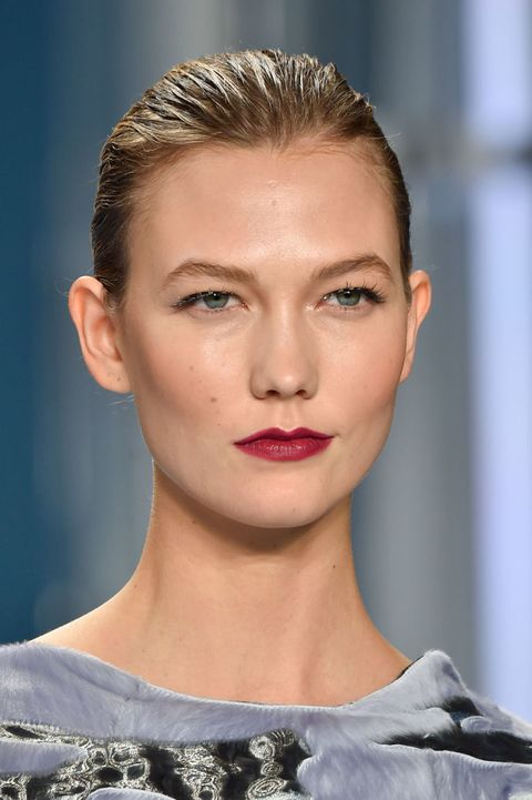 From ripe berry lips at Carolina Herrera (pictured left) to plum black lips at Marc Jacobs to oxblood red at 3.1 Phillip Lim, this season we saw a sea of lip color that would definitely get Angela Chase's stamp of approval.