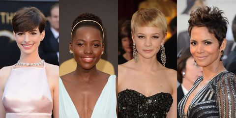 The classic pixie cut was made famous by Audrey Hepburn at the 1954 Academy Awards, and today's actresses followed suit. Though short, the hairstyle is very versatile, as evidenced by Halle Perry's tousled pixie and Carrie Mulligan's sleeker, more styled 'do.