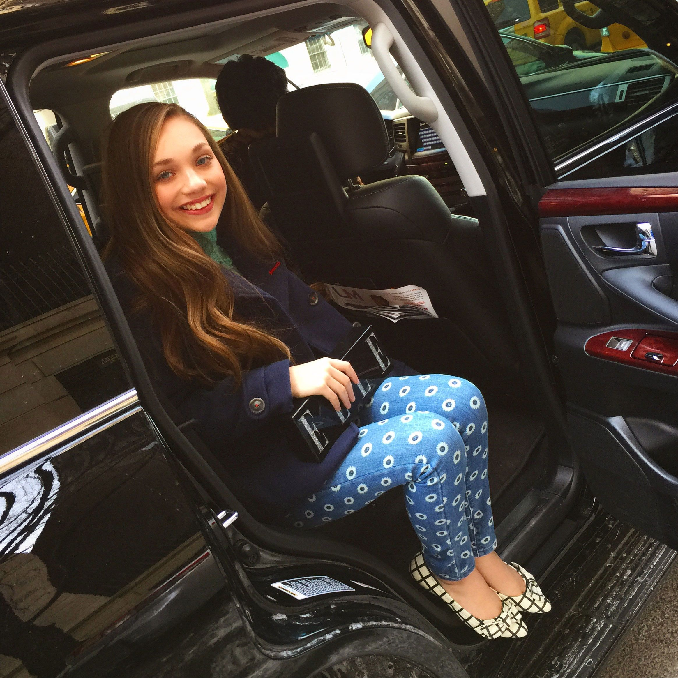 Day one! Let's go! Here I am arriving to my first show of the day in the Milk Made Lexus SUV.