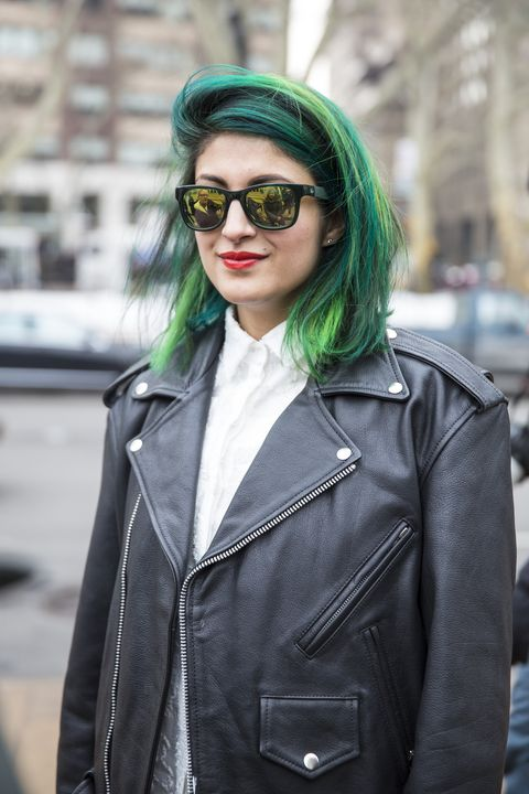 "This bold hue makes the <em>Nylon&nbsp;</em>fashion market director one of the most high-profile street stylers at Fashion Week.&nbsp;  <strong>Instagram:</strong> <a href=""http://instagram.com/Preetmasingh"">@PreetmaSingh</a>"