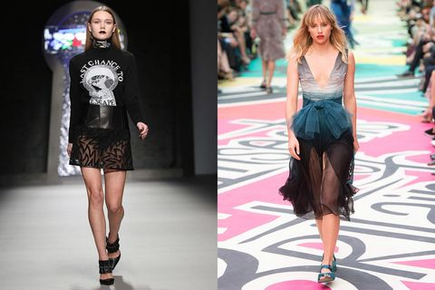 """Model Sisters: Suki Waterhouse; <a href=""""http://www.elle.com/fashion/news/g25801/exclusive-meet-maddi-waterhouse-youngest-sister-of-you-know-who/"""">Maddi Waterhouse</a>  Age Difference: 3 years (Suki); 5 years (Maddi)  Breakthrough Moment: Sitting front row at Burberry while Suki skipped the show for the Oscars  Last Seen: Making her runway debut at Ashley Williams  Campaigns: Urban Outfitters, Helmer  Fun Fact: She knows David Bowie albums by heart"""
