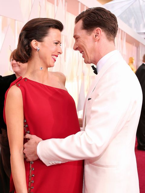 HOLLYWOOD, CA - FEBRUARY 22:  Actor Benedict Cumberbatch (R) and Sophie Hunter attend the 87th Annual Academy Awards at Hollywood & Highland Center on February 22, 2015 in Hollywood, California.  (Photo by Christopher Polk/Getty Images)