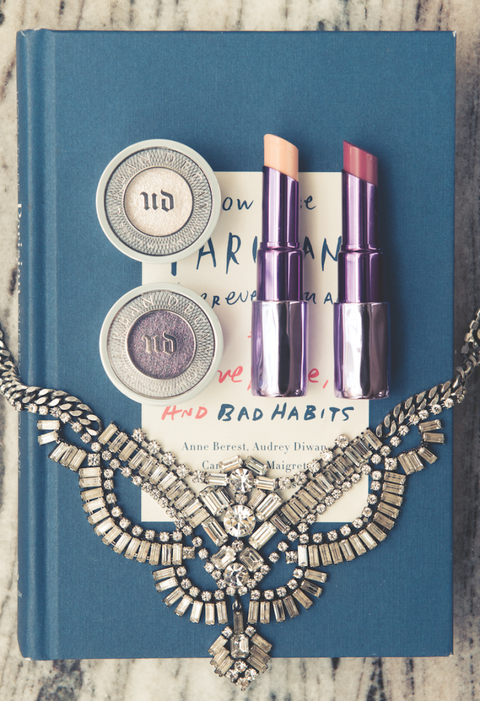 """Not only is the sheer rose hue of Rapture perfect for spring, but I love its moisturizing, creamy feel.""  <em>Urban Decay Sheer Revolution Lipstick, in Sheer Rapture, $22; <a href=""http://www.urbandecay.com/sheer-revolution-lipstick-by-urban-decay/502.html"">urbandecay.com</a></em>  <em>Urban Decay Sheer Revolution Lipstick in Walk of Shame, $22; <a href=""http://www.urbandecay.com/sheer-revolution-lipstick-by-urban-decay/502.html"">urbandecay.com</a></em>  <em>Urban Decay Moondust Eyeshadow</em> <em>in Cosmic and Ether, $20; <a href=""http://www.urbandecay.com/on/demandware.store/Sites-urbandecay-us-Site/default/Search-Show?q=moon%20dust&amp;utm_source=GOOGLE&amp;utm_medium=cpc&amp;utm_term=+moondust%20+eyeshadow&amp;utm_campaign=UD%20Non%20Brand%20Moondust%20BMM&amp;gclid=CjwKEAiAveWnBRCzjqf4zpuUkGYSJABcoZbH0tnpg0YI8rNTAkuPZ6gnhfVAJK8aIsCWG4aLgGw0vBoCt6rw_wcB"">urbandecay.com</a></em>"