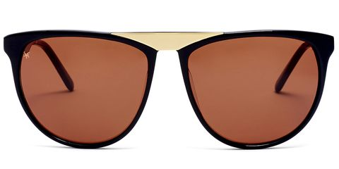 """The coolest new label out of New York (and produced in France), believes that """"objects too, can have a soul."""" All styles are unisex, so extra points for being able to share your boyfriends shades.  <strong>Smoke x Mirrors</strong> sunglasses, $295, <a href=""""http://www.smokexmirrors.com/default/sun/volunteers.html#Matte-Black"""">smokexmirrors.com</a>."""