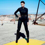 Standing, Fictional character, Street fashion, Leather, Waist, Fashion model, Animation, Photo shoot, Model, Fashion design,