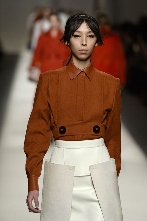 """Whether purposeful or purposely placed, buttons were everywhere within the fall 2015 collections. Adding oversized buttons to classic styles instantly creates a retro look. I love a timeless look and this mod style is a throwback to an era of such notable fashion icons.""   <em>Shown above at Fendi.</em>"