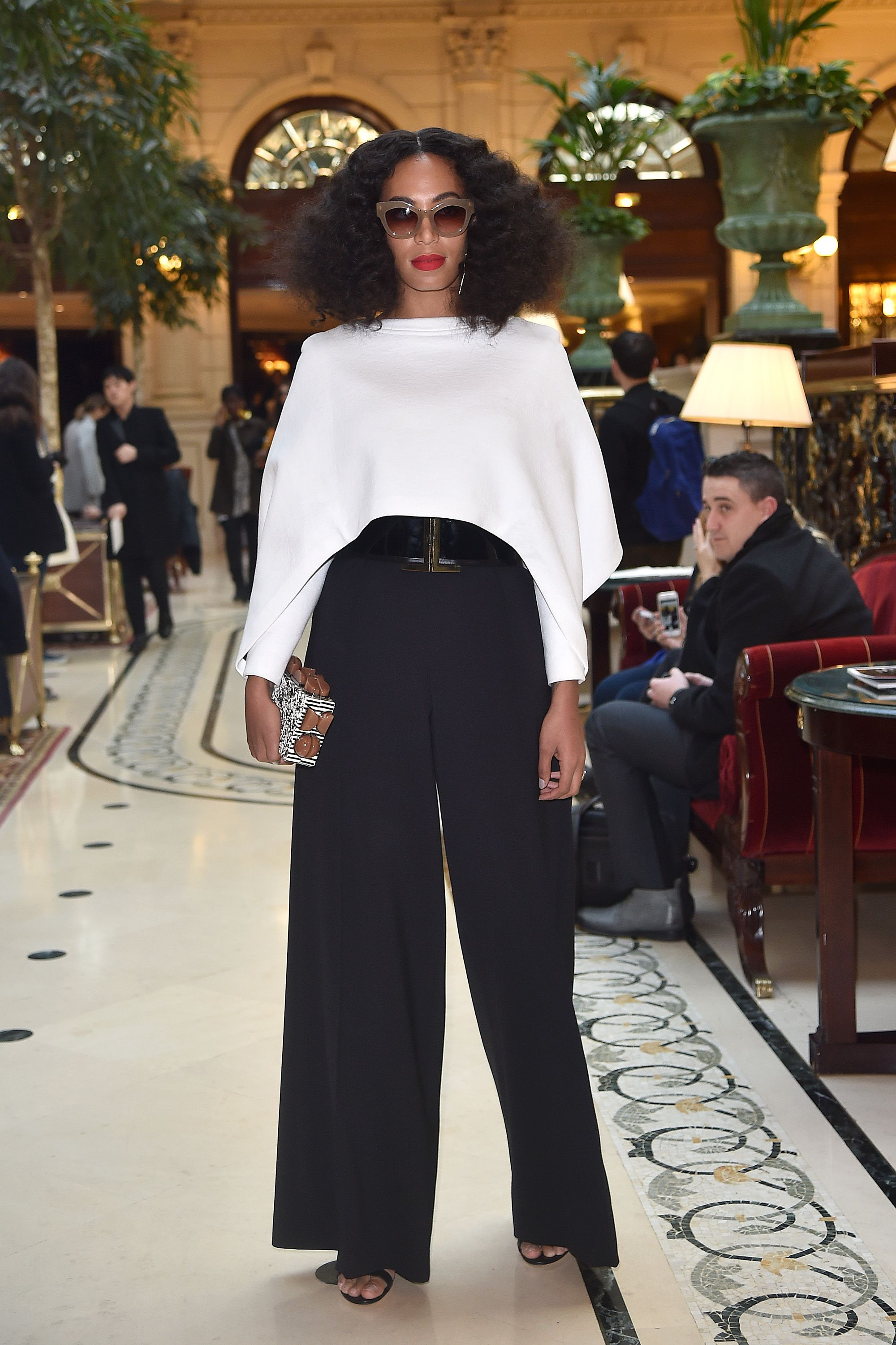 Who: Solange Knowles  When: 3/5/15  Why: Solange is excelling in Paris this season. Here, she proves the value of a good wide leg pant.