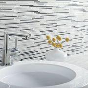 Plumbing fixture, Bathroom sink, Tap, Wall, Sink, Fluid, Ceramic, Bathroom accessory, Plumbing, Tile,