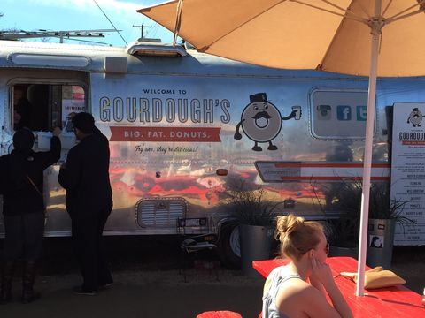 Gourdough's big fat doughnuts is located in an airstream right by Roadhouse Relics on South 1st Street. They have gourmet doughnuts like marshmallow with chocolate fudge icing, grilled strawberries, and even options like fried chicken or bacon.