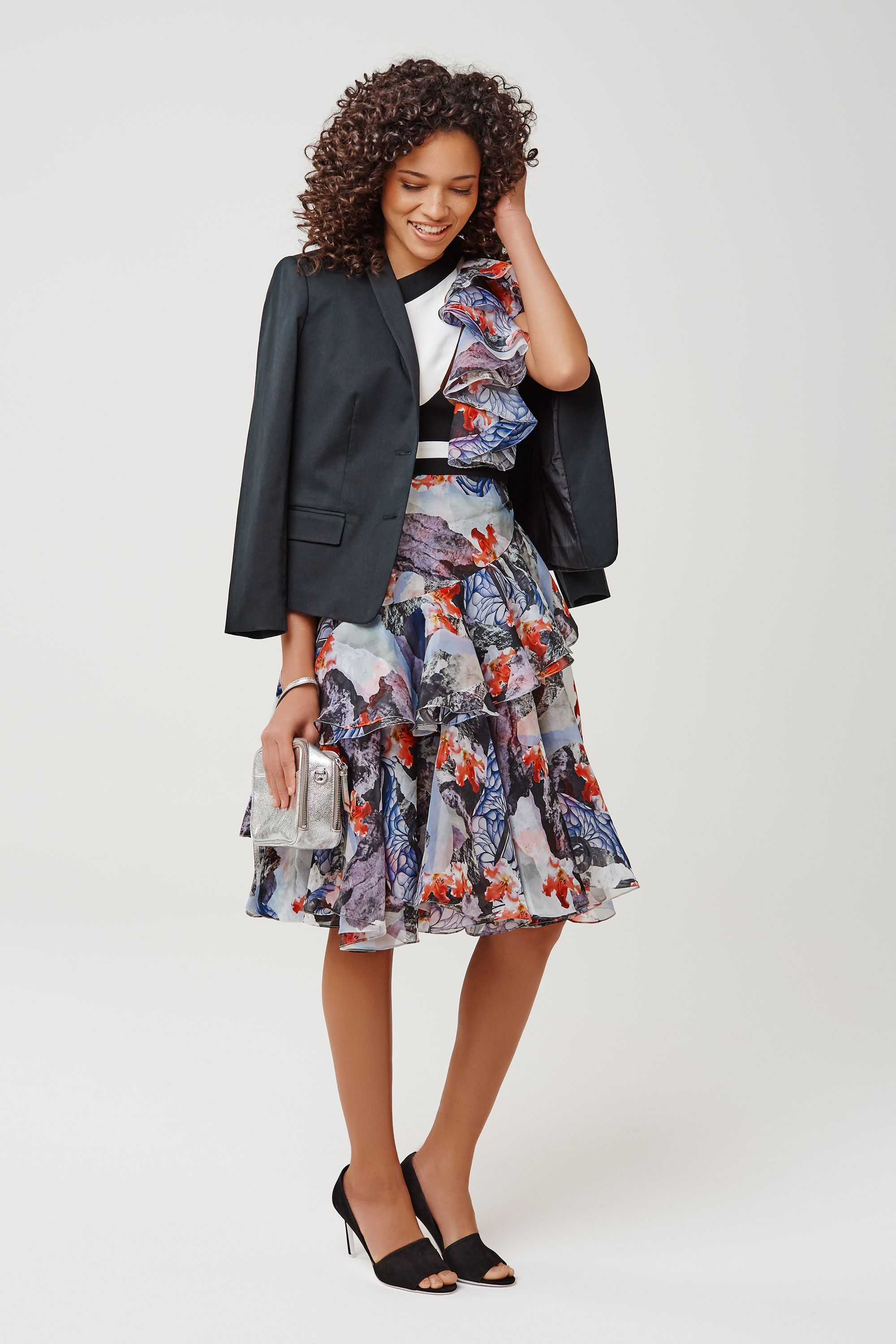 """You know that moment in every rom-com where the guy throws his blazer over the girl's shoulders? You actually don't need a guy to have that moment. Toss a boxy blazer over a cocktail dress to achieve the look, whether you have a man or not. <em>Banana Republic Cropped Sateen Blazer, $165&#x3B; <a target=""""_blank"""" href=""""http://bananarepublic.gap.com/browse/product.do?cid=86577&amp&#x3B;vid=1&amp&#x3B;pid=403669022"""">bananarepublic.com</a></em><em>Prabal Gurung Asymmetrical Ruffle Shoulder Dress, barneys.com</em><em>Banana Republic Harper Silver Double-Zip Camera Crossbody, $130&#x3B; <a target=""""_blank"""" href=""""http://bananarepublic.gap.com/browse/product.do?cid=1006821&amp&#x3B;vid=1&amp&#x3B;pid=288949002"""">bananarepublic.com</a></em><em>Vince Saffron Suede Peep Toe Pump, $395&#x3B; nordstrom.com</em><em></em><em></em><em></em><em></em><em></em><em></em><em></em><em></em><em></em><em></em><em></em><em></em><em></em><em></em><em></em><em></em><em></em><em></em><em></em><em></em><em></em><em></em><em></em><em></em><em></em><em></em><em></em><em></em><em></em><em></em><em></em><em></em><em></em><em></em><em></em><em></em><em></em><em></em><em></em><em></em><em></em><em></em><em></em><em></em><em></em><em></em><em></em><em></em><em></em><em></em><em></em><em></em><em></em><em></em><em></em><em></em><em></em><em></em>"""