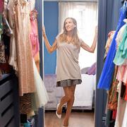 Textile, Room, Dress, Fashion, Clothes hanger, One-piece garment, Retail, Boutique, Street fashion, Linens,