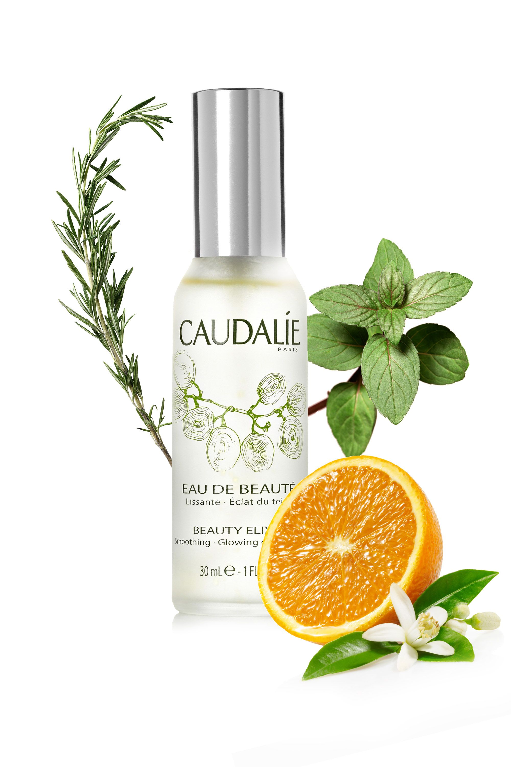Caudalie Beauty Elixir, $49; caudalie.com  <strong>What's in it:</strong> Bitter orange, rosemary, and peppermint  <strong>For your skin:</strong> There's a reason why this product is a cult favorite for everyone from top makeup artists to Karlie Kloss: Orange normalizes sebum production, keeping oiliness in check, peppermint soothes inflammation, and rosemary is believed to encourage collagen production. That's the trifecta, <em>non</em>?  <strong>For your mood:</strong> The scent of orange has been shown in studies to reduce anxiety, while rosemary can help boost mood and performance during a stressful day at the office. Peppermint energizes and increases alertness.