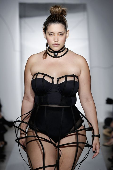 """The Latina was the first plus-size model to walk the runways of NYFW in 2014. She has also appeared in campaigns for Target, Forever 21, Macy's, and Nordstrom, and is now a spokesperson (along with model Marina Bulatkina) for """"CURVES,"""" a campaign by photographer Victoria Janashvili to start a conversation (by releasing an art photography book) about acceptance and body positivity. """"It's all about being comfortable in your own skin,"""" she told <a target=""""_blank"""" href=""""http://varietylatino.com/english/2015/gente/fotos/denise-bidot-love-your-body-yourself-interview-146389/""""><em>Variety Latino</em></a>. """"There is no wrong way to be a woman."""""""