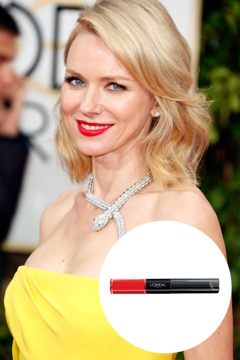 "This is the red hue Watts chose for the red carpet. And we're in love.  L'Oréal Paris Infallible Pro Lip Color in Infallible Red, $10; <a target=""_blank"" href=""http://rstyle.me/n/x8gr8bp6xp"">drugstore.com</a>."
