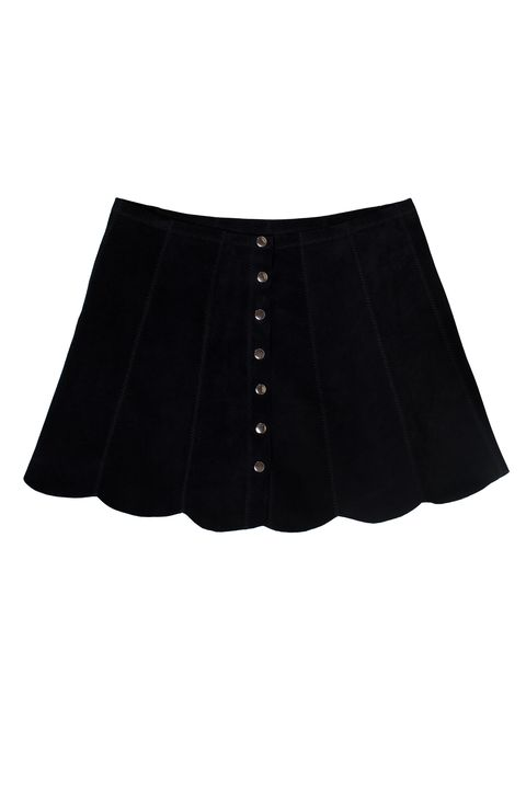"Reformation Abigail Skirt, $198; <a target=""_blank"" href=""https://www.thereformation.com/products/abigail-skirt-spades"">thereformation.com</a>"