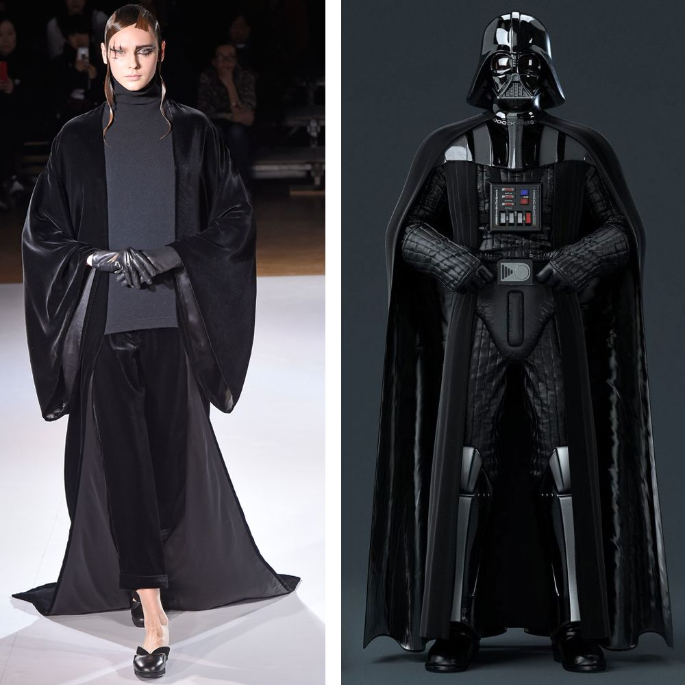 Yohji Yamomoto's clothes have an undeniable hypnotic power. If going to the Dark Side helps us acquire his latest runway look, we can't make any promises.