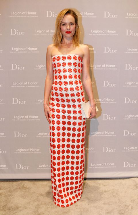 Who: Kate BosworthWhen: 3/27/15Why: I just had to put two Kates in Christian Dior on this list. Bosworth rocks a column gown with red embellishments and a red lip. I'm all about accents and these are perfect.