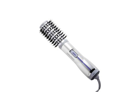 "<p>John Frieda Salon Shape Hot Air Brush, $40; <a target=""_blank"" href=""http://www.ulta.com/ulta/browse/productDetail.jsp?productId=xlsImpprod6500905"">ulta.com</a></p> <p>For those of us who are not so skilled with a hair dryer, this mash-up device is a godsend: Air comes out of the brush itself, eliminating the need to swap between blow dryer and round brush (and leaving one hand free for texting, sipping coffee, whatever). The ionic technology helps seal out frizz, and it's also especially handy for those who'd like to keep the rest of their locks undisturbed by a blow dryer. Also note the soft bristles, which are <em>essential</em> when choosing a round brush for bangs—they'll grab at every hair to ensure even drying, while the bristles on nylon brushes are generally spaced too far apart for such a small amount of hair.</p>"