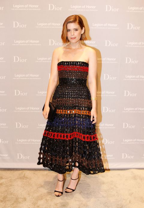 Who: Kate MaraWhen: 3/27/15Why: Kate Mara in this Christian Dior dress is just too good. It's tribal, but formal, so it is one of those gowns that is perfect to wear to a black tie event while you are on a safari.
