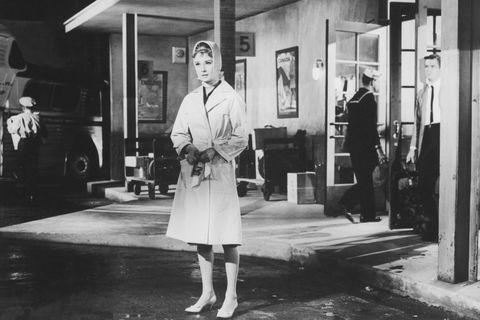 Audrey Hepburn on the set of <em>Breakfast at Tiffany's</em>, January 1961