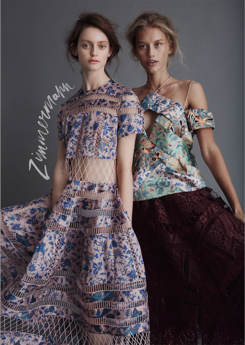 "<a target=""_blank"" href=""http://zimmermannwear.com/"">Zimmermann</a>  The Zimmermann sisters' swimwear roots keep their color palettes warm, their prints unapologetic, and their trans-seasonal layers ethereally appropriate for any circumstance between work and the Bahamas.   <!--EndFragment-->"