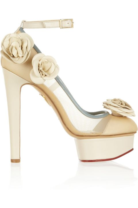 """Charlotte Olympia Flora Leather and Mesh Pumps, $1,200; <a target=""""_blank"""" href=""""http://rstyle.me/n/ytgapbc6jf"""">net-a-porter.com</a>   <!--EndFragment-->"""