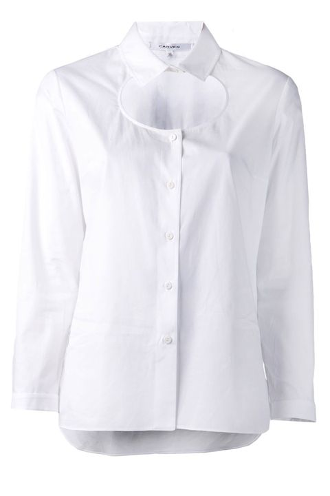 "Balance sexy and sophisticated in this cotton cutout number.   Carven Chemise Poplin Shirt, $109; <a target=""_blank"" href=""http://www.farfetch.com/uk/shopping/women/item10756182.aspx"">farfetch.com</a>"