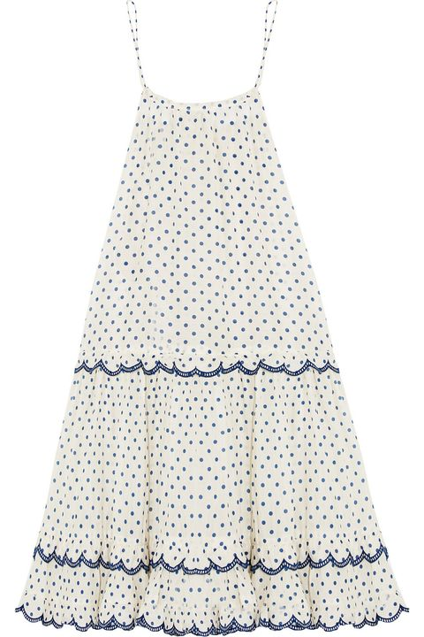 "Zimmerman Ceramic Polka-Dot Cotton and Silk-Blend Dress, $410; <a target=""_blank"" href=""http://rstyle.me/n/veqtabc6jf"">net-a-porter.com</a>"