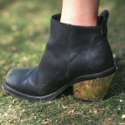Footwear, Green, Brown, Leather, Tan, Boot, Still life photography,