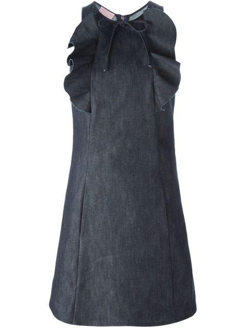 "Giamba Ruffle Detail Denim Dress, $628; <a href=""http://www.farfetch.com/shopping/item10975152.aspx"">farfetch.com</a>   <!--EndFragment-->"