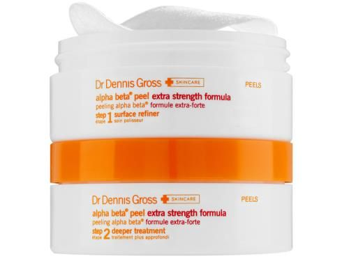 "Facialists and derms do agree on one thing: The Dr. Dennis Gross Alpha Beta Peel, with regular use, will help prevent acne and minimize wrinkles.  Dr. Dennis Gross Skincare Extra Strength Alpha Beta Peel, $84; <a target=""_blank"" href=""http://www.lovelyskin.com/o/dr-dennis-gross-skincare-extra-strength-alpha-beta-daily-face-peel-30-applications?lsat=ONESTEP&ref=gbase&mkwid=juaO8KxW&pcrid=47071746980&gclid=Cj0KEQjwgI6pBRDak6aRovWNqLsBEiQA8zZSLlHKhOhx2AXk3W4l5hp0tWfwmf3YVZOhIYXxAeL8yt0aAlNY8P8HAQ"">lovelyskin.com</a>"