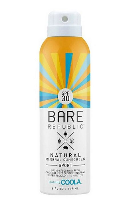 "Target has upped the ante on its natural beauty selection, and this brand is a standout. It's a mineral sunblock without any chemical propellants, all in a recyclable can.  Bare Republic Natural Mineral Sunscreen Sport SPF 30, $14.99; <a target=""_blank"" href=""http://www.target.com/p/bare-republic-mineral-body-spray-spf-30-6-oz/-/A-16576942#prodSlot=dlp_medium_1_5&amp;term=bare+republic"">target.com</a>"