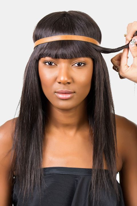 How To Style Bangs 5 Hairstyles To Keep Your Bangs Out Of