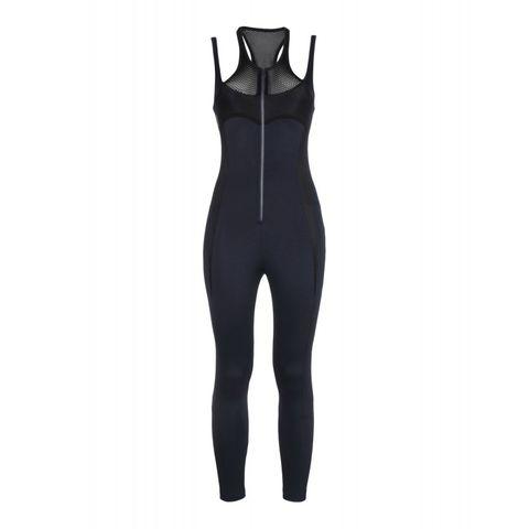 "Cara Delevigne x DKNY Mesh-Paneled Stretch-Jersely Jumpsuit, $195; <a target=""_blank"" href=""http://shop.harpersbazaar.com/designers/cara-d-x-dkny/mesh-paneled-stretch-jersey-jumpsuit/?utm_source=polyvore&amp;utm_medium=cpc&amp;utm_campaign=clothing"">shop.harpersbazaar.com</a>   <!--EndFragment-->"