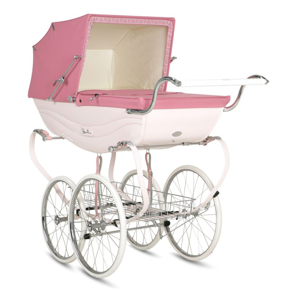 "Silver Cross Balmoral Pram, $3999&#x3B; <a target=""_blank"" href=""http://poshbabystrollers.com/products/silver-cross-balmoral-pram-pink"">poshbabystrollers.com</a>