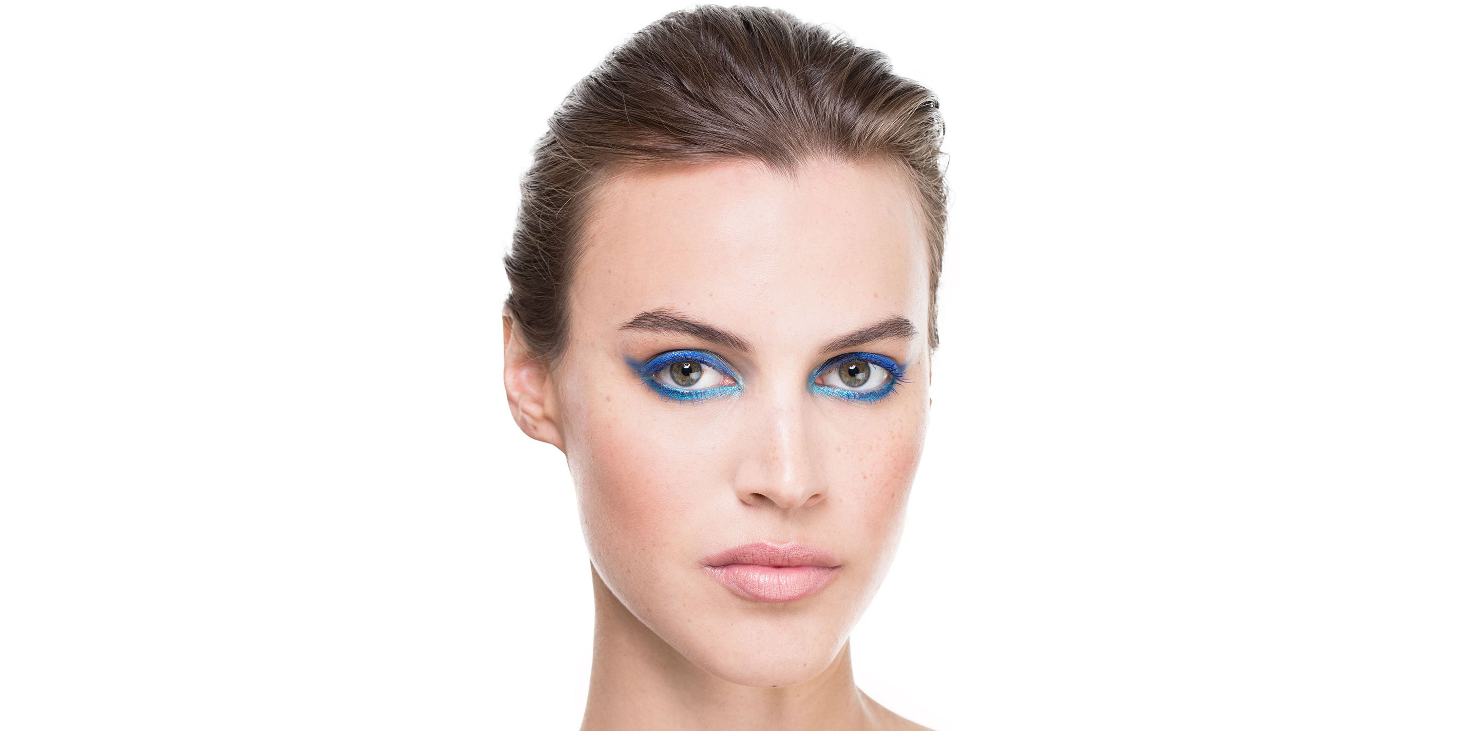 """Ocean-blue eyes always feel right on summer vacation. Taking a cue from <a target=""""_blank"""" href=""""http://www.harpersbazaar.com/beauty/makeup/advice/g4389/best-makeup-runway-trends-spring-2015/?slide=27"""">Elie Saab Spring 2015</a>, Olivier lined the entire eye in light, bright blue, then blended and smudged a darker shade over it from the middle to the outside corners for rich dimension.   <strong>Products used: By Terry </strong>Crayon Khol Terrybly Color Eye Pencil in Royal Navy, $34, <a target=""""_blank"""" href=""""http://www.beauty.com/by-terry-crayon-khol-terrybly--color-eye-pencil-9--royal-navy/qxp495180"""">beauty.com</a>; <strong>Rimmel London </strong>Scandaleyes Shadow Stick in Tempting Turquoise, $4.50, <a target=""""_blank"""" href=""""http://www.drugstore.com/products/prod.asp?pid=473247&catid=183538&cmbProdBrandFilter=112163&aid=338666&aparam=473247&kpid=473247&CAWELAID=120142990000005392&CAGPSPN=pla&kpid=473247"""">drugstore.com</a>; <strong>Dior</strong> Diorshow Mascara in Catwalk Blue, $25, <a target=""""_blank"""" href=""""http://www.sephora.com/diorshow-mascara-P40404?skuId=710459"""">sephora.com</a>."""