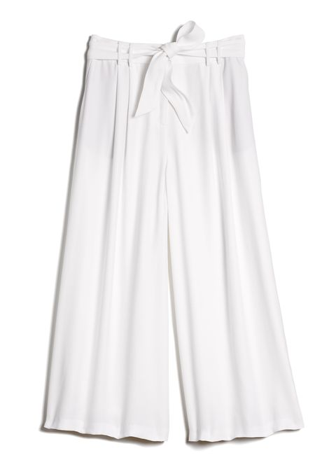 "<p>The culotte is one of our favorite retro styles that's as comfortable as it is chic. The ankle length makes it a great transitional item that will take you from spring to summer.</p> <p>Armani Exchange Wide Leg Culotte, $120; <a target=""_blank"" href=""http://www.armaniexchange.com/product/wide+leg+culotte.do?axcmp=AXDigital_SS15_ELLE_EB"">armaniexchange.com</a></p>"