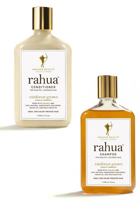 "Rahua Shampoo, $32, and Conditioner, $34; <a target=""_blank"" href=""http://www.rahua.com/us/hair/shampoo.html"">rahua.com</a>  <a target=""_blank"" href=""http://www.elle.com/beauty/hair/a27251/no-shampoo-too-high-maintenance/"">Speaking from experience</a>, finding a natural shampoo and conditioner that doesn't leave hair oily or, well, <em>dirty</em> is no easy task. Rahua does it exceedingly well, with recognizable ingredients like quinoa, molasses, and aloe—as well as palo santo wood, the brand's signature scent."