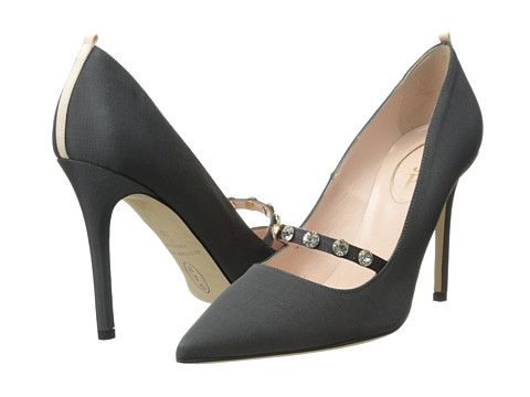 "SJP by Sarah Jessica Parker Daphne Heels, $395; <a target=""_blank"" href=""http://couture.zappos.com/sjp-by-sarah-jessica-parker-daphne-dark-grey"">zappos.com</a>"
