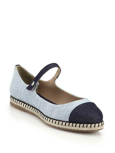 "Tabitha Simmons Neely Mary-Jane Espadrille Flats, $395; <a target=""_blank"" href=""http://rstyle.me/n/zj96kbc6jf"">saksfifthavenue.com</a>"