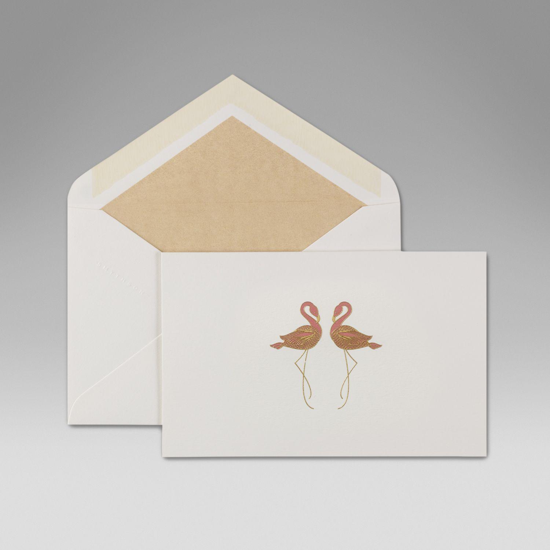 "&lt;p&gt;Smythson Flamingo Correspondence Cards, $45; &lt;a href=""http://www.smythson.com/us/white-flamingo-correspondence-cards.html?___SID=U""&gt;smythson.com&lt;/a&gt;&lt;/p&gt; &lt;p&gt; <!--EndFragment-->&lt;/p&gt;"