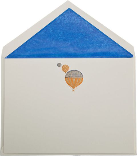 "<p>Connor Balloon-Engraved Note Cards, $95; <a href=""http://www.barneys.com/connor-balloon-engraved--note-cards-503050335.html#start=3"">barneys.com</a></p> <p> <!--EndFragment--></p>"