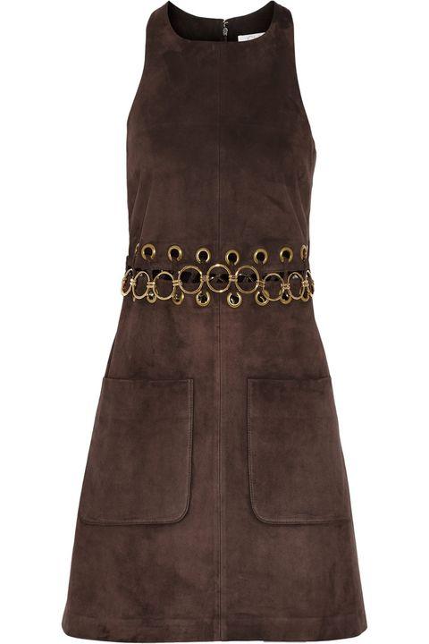 "Chloé Embellished Suede Mini Dress, $2,795; <a href=""http://www.net-a-porter.com/product/544814/Chloe/embellished-suede-mini-dress"">net-a-porter.com</a>   <!--EndFragment-->"