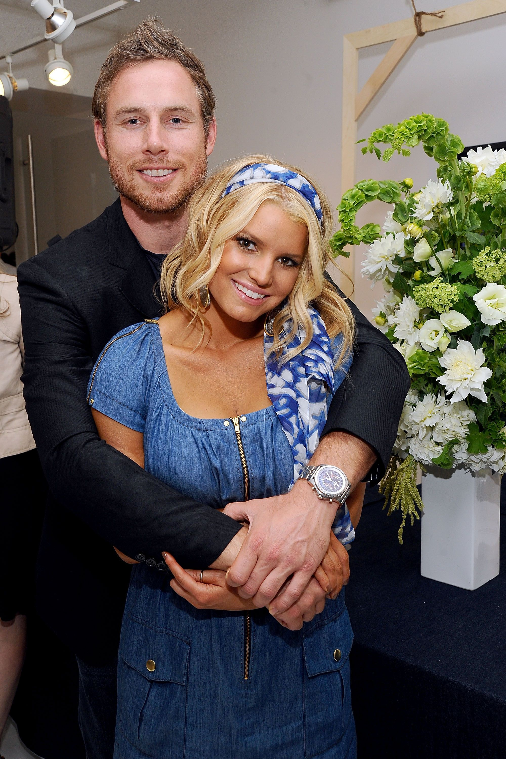 "Eric Johnson and Jessica Simpson attend a launch event and press preview for the Spring 2011 Jessica Simpson Collection ""Show Me Your Blues"" Jeanswear at Jessica Simpson Collection Showroom on September 7, 2010 in New York, New York."