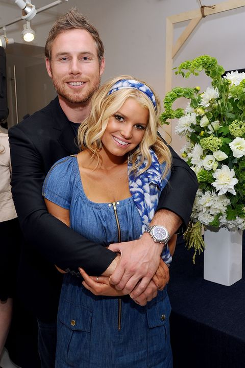 """Eric Johnson and Jessica Simpson attend a launch event and press preview for the Spring 2011 Jessica Simpson Collection """"Show Me Your Blues"""" Jeanswear at Jessica Simpson Collection Showroom on September 7, 2010 in New York, New York."""
